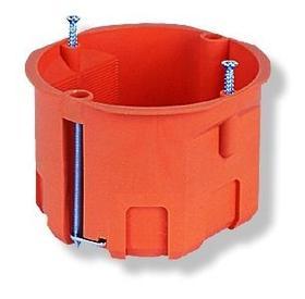 Puszka podtynkowa gips, płytka, pomarańczowa P 60KF