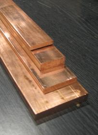 Płaskownik miedziany 30x10mm, w odcinku długości 4m, waga 2,67kg/m