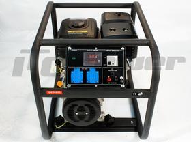GG3000C Agregat prądotwórczy na benzynę, z czterosuwowym silnikiem OHV chłodzony powietrzem. Analogowy woltomierz i wyjście 12V DC.