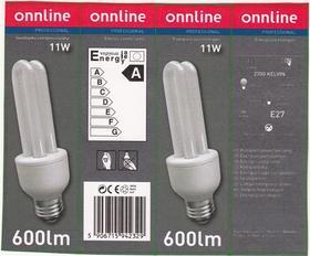 Świetlówka kompaktowa zintegrowana 11W/827 E27 230V klasa energetyczna A