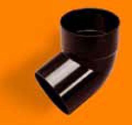 Kolano 50x50/67 jednokielichowe, Kanion PVC grafit