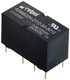 Przekaźniki RSM822N, monostabilne, 2 zestyki przełączne, 2 A, do obwodów drukowanych. Wejście / cewka: 1-16, napięcie zasilania Un - 5 V DC