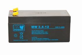MW Power Akumulator AGM AGM 12V/3,4Ah 6-9 lat MW3,4-12 MW POWER