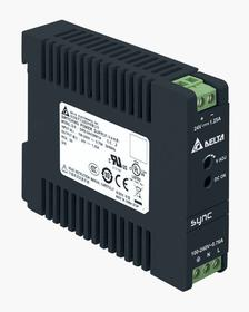 DELTA zasilacz DIN 24V/1,25A, Sync, plastic case