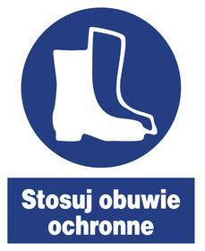 Znak bhp nakazu Stosuj obuwie ochronne ZNO-8
