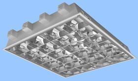 I Oprawa sufitowa do wbudowania 4x18W, podtynkowa, raster paraboliczny z wysokopolerowanej blachy aluminiowej, EVG I418ALDP600EP MODUS