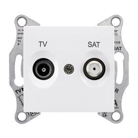 Gniazdo TV/SAT końcowe białe Sedna SDN3401621 SCHNEIDER