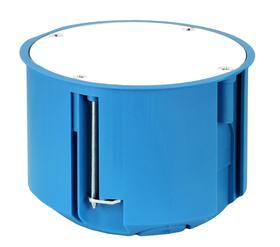 Puszka podtynkowa gips, głęboka, z pokrywą,       niebieska P 80