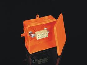 Puszka natynkowa E-90 5x6mm2 8135 pomarańczowa 8135PO KOPOS