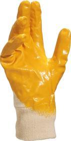 Rękawice NIO15 Nitryl biało-żółte rozmiar 7 NI01507 DELTA PLUS