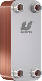 """Wymiennik płytowy lutowany jednoprzepływowy LB31-40-1"""" (przyłącza: 4 króćce GZ) 0203-0064 SECESPOL"""