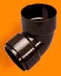 Kolano 110x110/67 dwukielichowe, Kanion PVC grafit 3060112451 WAVIN