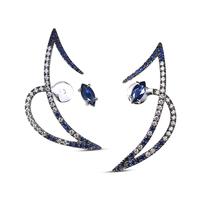 Swoonery-Le Phoenix Zeal II Blue Sapphire and Diamond Earrings