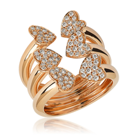 Swoonery-Big Rose Gold Heart Ring
