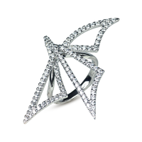 Swoonery-White Gold Origami Silhouette II Ring