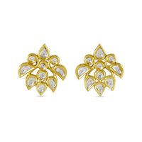 Swoonery-Gold and Silver Diamond Studs