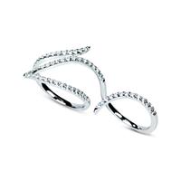 Swoonery-Le Phoenix Double-Finger Diamond Ring