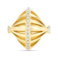 Swoonery-Yellow Gold Sumerian Dome Spike Ring