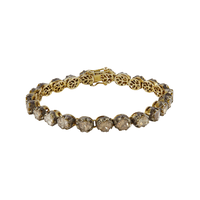 Swoonery-Gold and Silver Diamond Tennis Bracelet