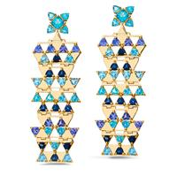 Swoonery-Harlequin earrings L