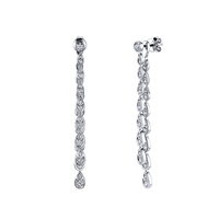 Swoonery-Versatile Scallop Artisan Pave Dangling Earrings
