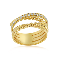 Swoonery-Yellow Gold Bubbles Ring