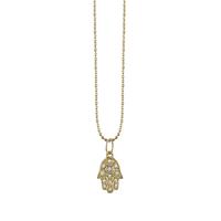 Swoonery-Medium Hamsa Necklace
