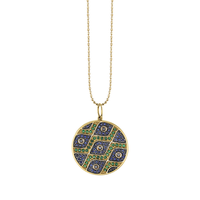 Swoonery-Pave Evil Eye Pattern Disc Charm