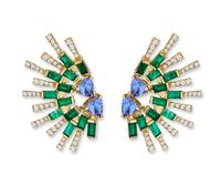 Swoonery-SunShine Mini earrings - Emerald