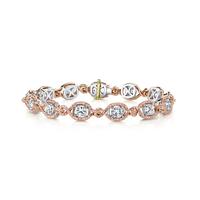 Swoonery-Kotlar Cushion diamonds & Pink Diamonds Pave Bracelet
