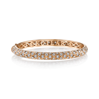 Swoonery-Criss Cross Artisan Pave Eternity Bangle