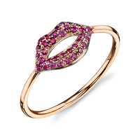 Swoonery-Pave Lips Ring