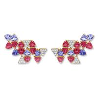 Swoonery-Harlequin Mini earrings
