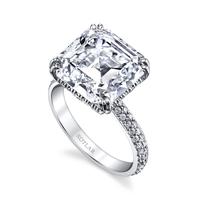 Swoonery-Asscher Cut 8.81ct Arabesque Ring