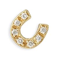 Swoonery-Pave Horseshoe Earrings