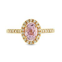 Swoonery-Twinkle Twinkle Oval Halo Ring