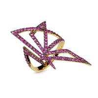 Swoonery-Origami Silhouette I Pink Sapphire