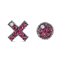Yossi Harari Lilah Xo Stud Earrings