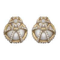 Swoonery-Sphaera Double Ball Earrings