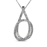 Swoonery-White Gold Talisman Eternity Knot Necklace