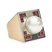Swoonery-Crop Circle Pink Tourmaline Ring