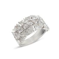 Swoonery-Haute Couture Half Way Set Fancy-Cut Diamond And Platinum Ring