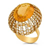 Petit Pois Ring - Citrine
