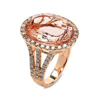 Swoonery-Oval Morganite Ring