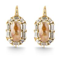 Swoonery-ROSE CUT DIAMOND EARRINGS