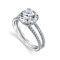 Swoonery-Round Brilliant 2.04ct Arabesque Ring