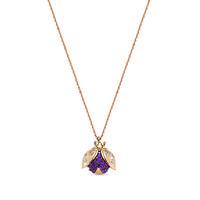 Swoonery-Secret Garden Ladybug Flight Necklace