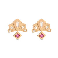 Swoonery-Michelle Fantaci Nomad Fan Earrings