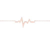 Swoonery-Rose Gold Heartbeat Necklace