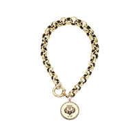 Swoonery-Faceted Protection Medallion Bracelet